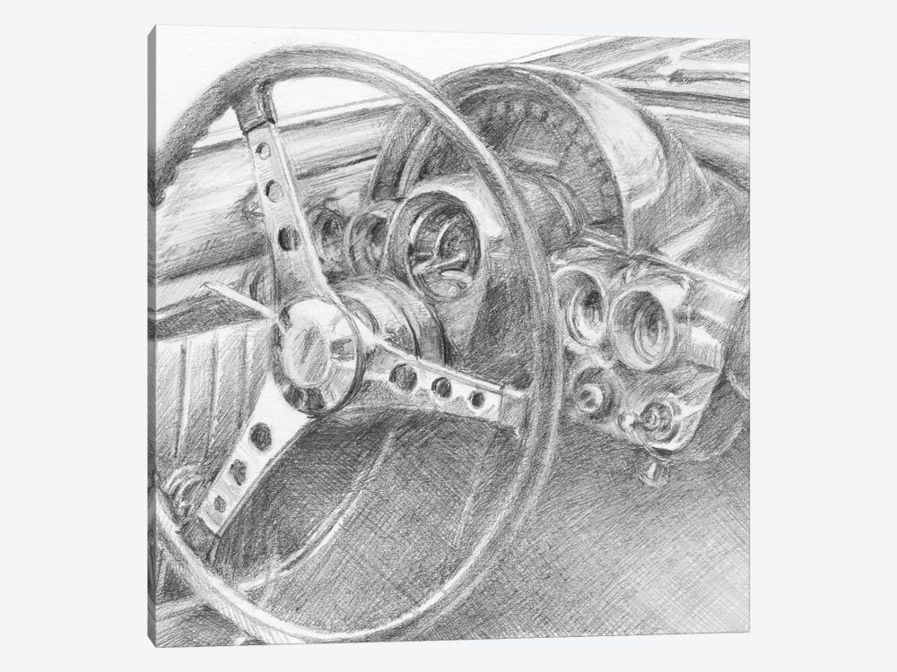 Behind The Wheel II by Ethan Harper 1-piece Canvas Print