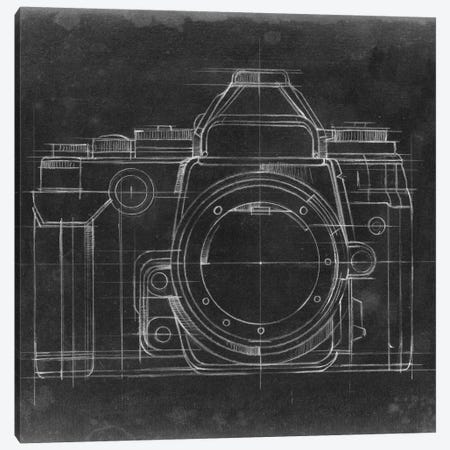 Camera Blueprints IV Canvas Print #EHA347} by Ethan Harper Canvas Wall Art