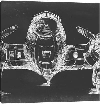 Graphic Plane Panel II Canvas Art Print