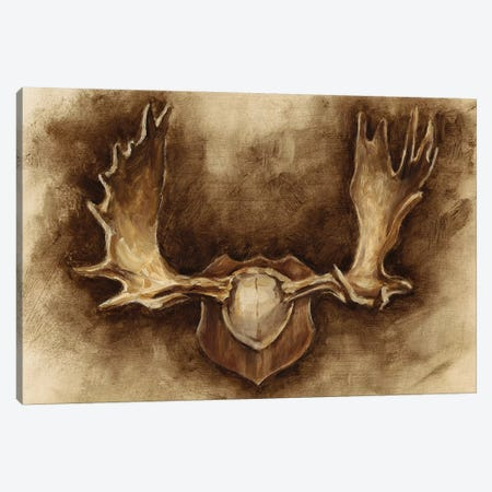 Rustic Antler Mount II 3-Piece Canvas #EHA376} by Ethan Harper Canvas Art Print