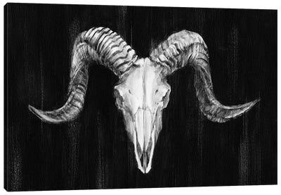 Rustic Ram Mount I Canvas Art Print