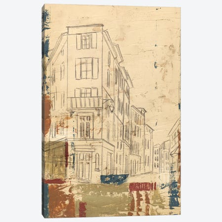 Streets Of Downtown I Canvas Print #EHA384} by Ethan Harper Canvas Wall Art