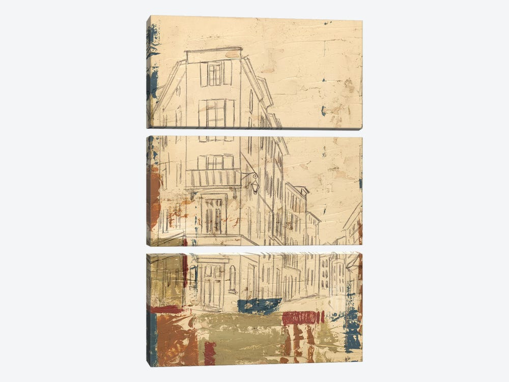 Streets Of Downtown I by Ethan Harper 3-piece Canvas Art Print