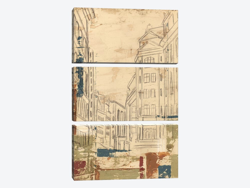 Streets Of Downtown II by Ethan Harper 3-piece Canvas Wall Art