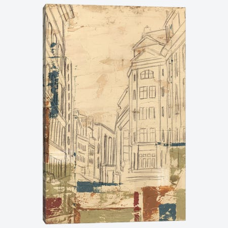 Streets Of Downtown II Canvas Print #EHA385} by Ethan Harper Canvas Wall Art