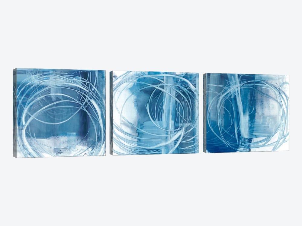 Indigo Expression Triptych by Ethan Harper 3-piece Canvas Art