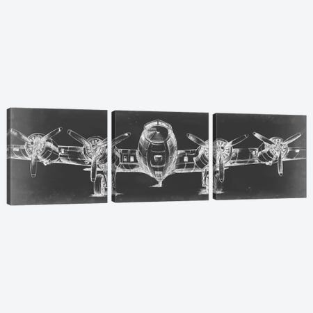 Graphic Plane Triptych Canvas Print Set #EHA3HSET002} by Ethan Harper Canvas Wall Art