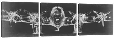 Graphic Plane Triptych Canvas Art Print