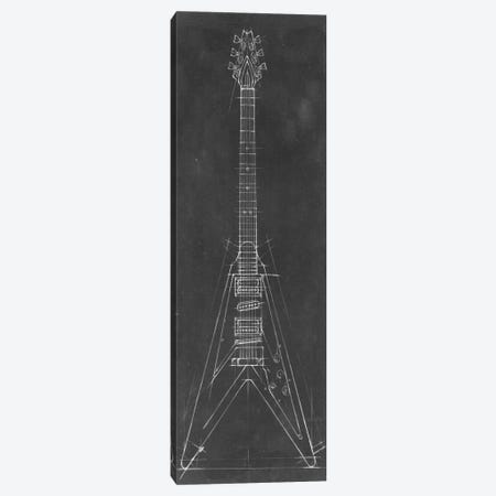 Electric Guitar Blueprint I Canvas Print #EHA40} by Ethan Harper Canvas Print