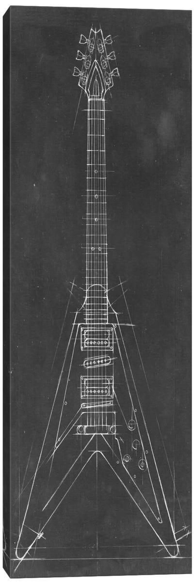 Electric Guitar Blueprint I Canvas Art Print
