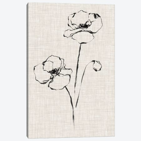 Floral Ink Study III Canvas Print #EHA414} by Ethan Harper Canvas Art
