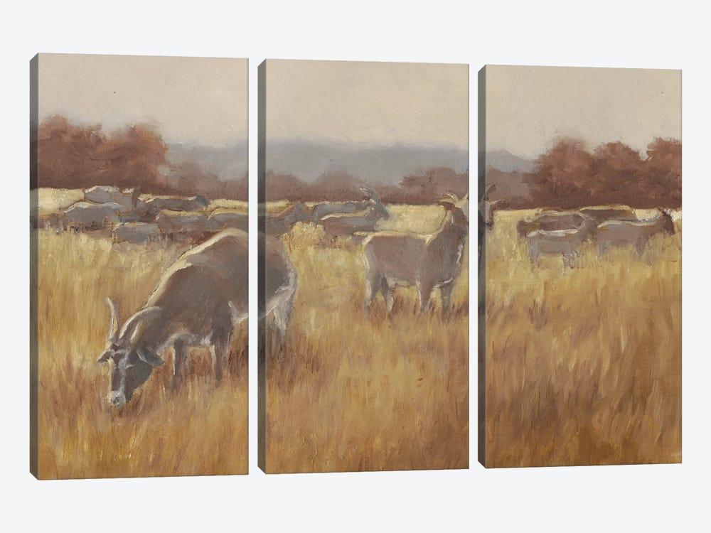 Grazing Goats II by Ethan Harper 3-piece Canvas Artwork