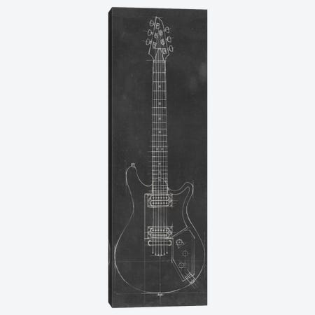 Electric Guitar Blueprint II Canvas Print #EHA41} by Ethan Harper Canvas Print