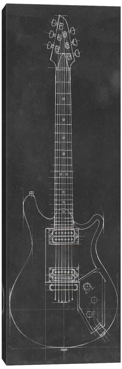 Electric Guitar Blueprint II Canvas Print #EHA41