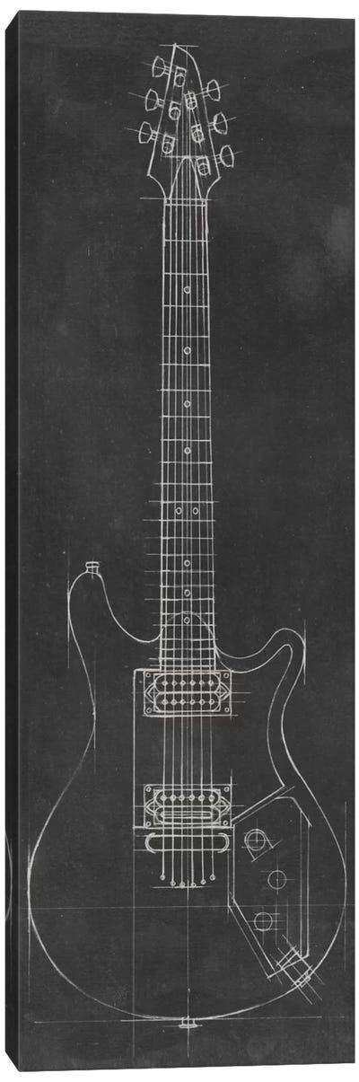 Electric Guitar Blueprint II Canvas Art Print