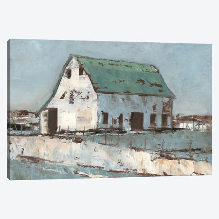 Plein Air Barn II Canvas Print #EHA430} by Ethan Harper Art Print