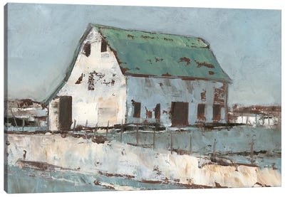 Plein Air Barn II Canvas Art Print