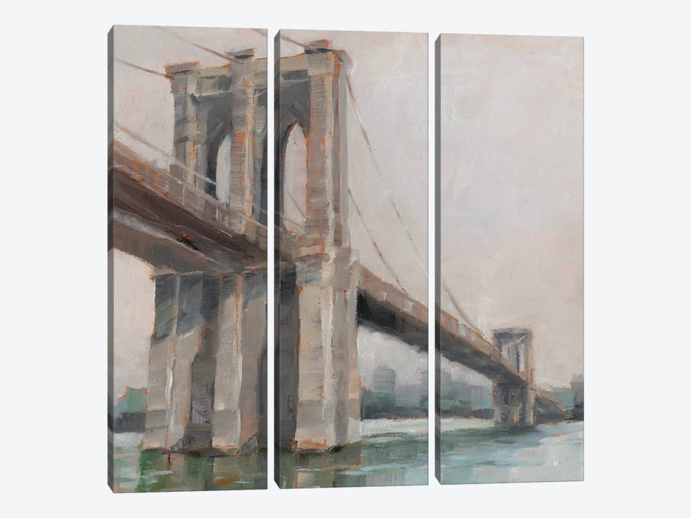 Spanning The East River I by Ethan Harper 3-piece Canvas Art Print