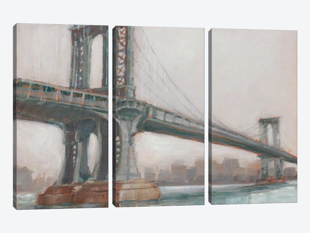 Spanning The East River II by Ethan Harper 3-piece Canvas Artwork