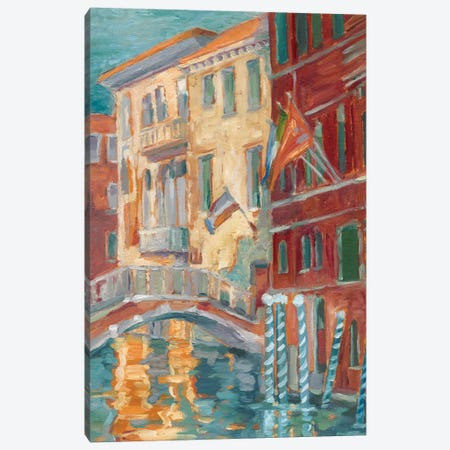 Sunset On The Canal I Canvas Print #EHA443} by Ethan Harper Canvas Art