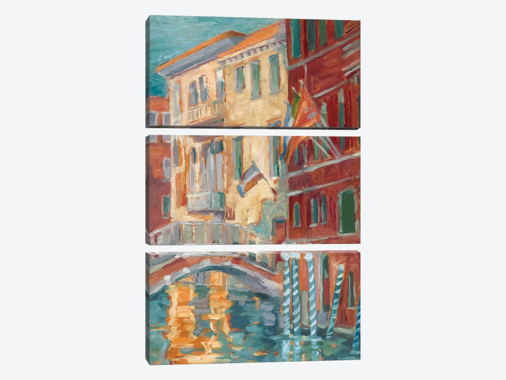 Sunset On The Canal I by Ethan Harper 3-piece Canvas Print