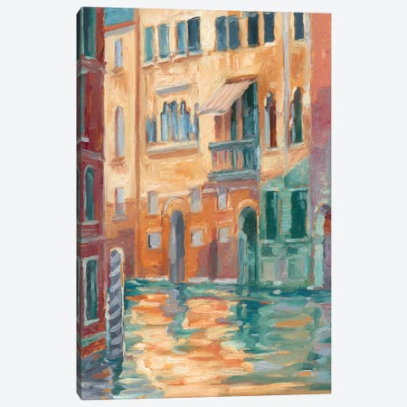 Sunset On The Canal II Canvas Print #EHA444} by Ethan Harper Canvas Art Print