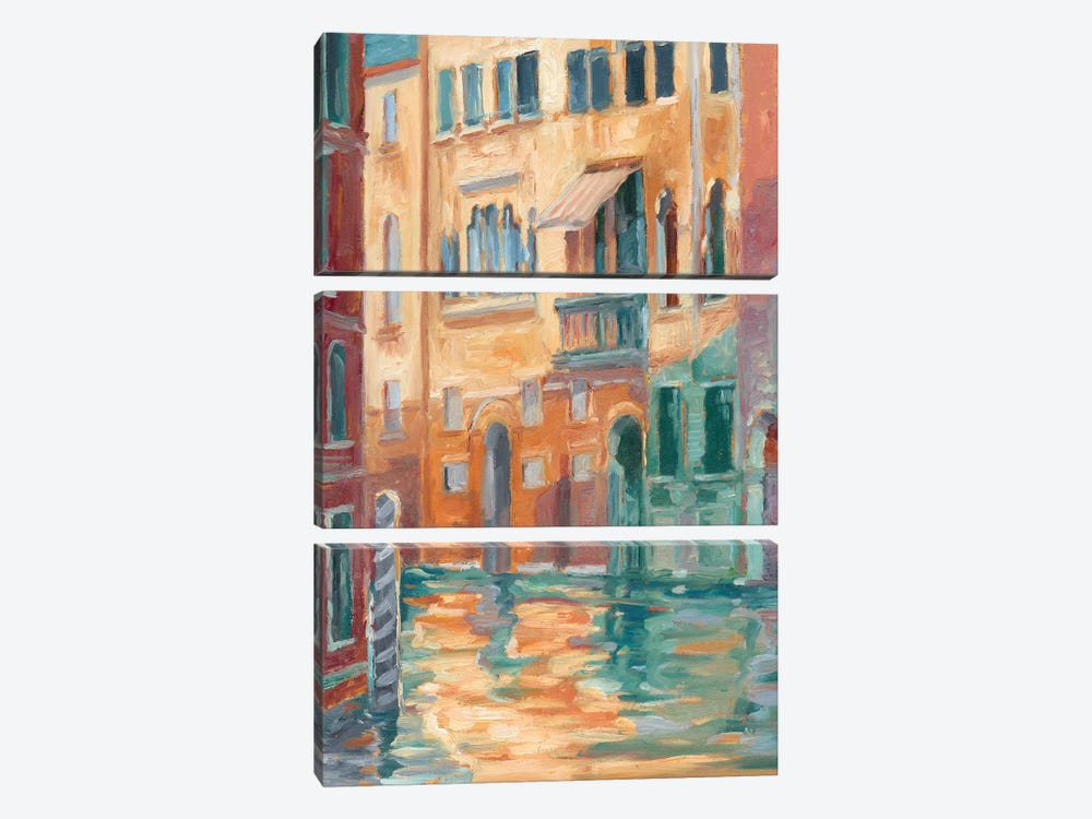 Sunset On The Canal II by Ethan Harper 3-piece Canvas Art