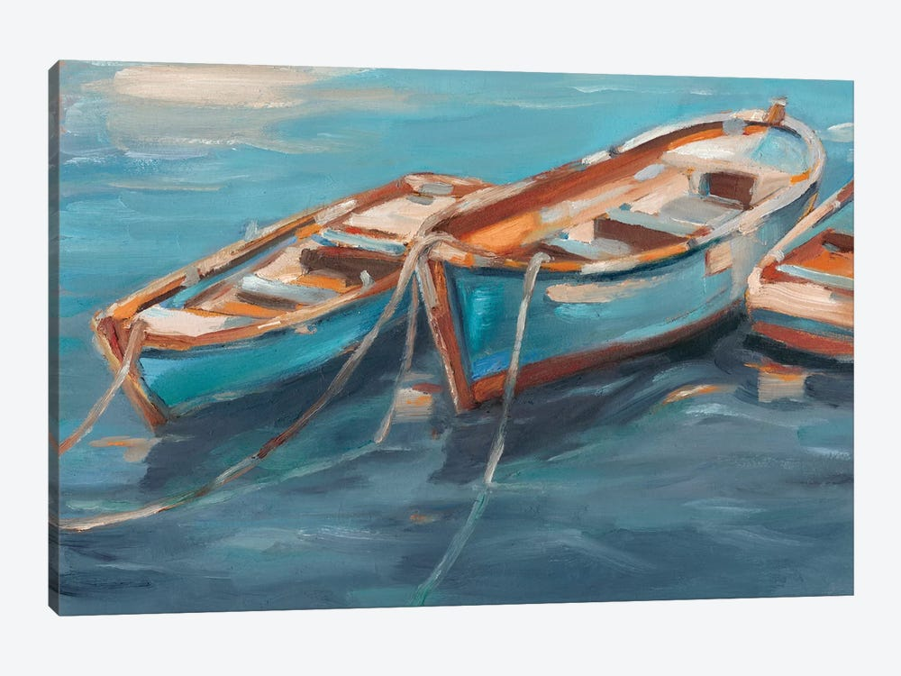 Tethered Row Boats I by Ethan Harper 1-piece Canvas Art Print