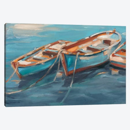 Tethered Row Boats I Canvas Print #EHA445} by Ethan Harper Canvas Print