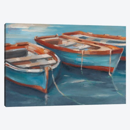 Tethered Row Boats II Canvas Print #EHA446} by Ethan Harper Canvas Art Print