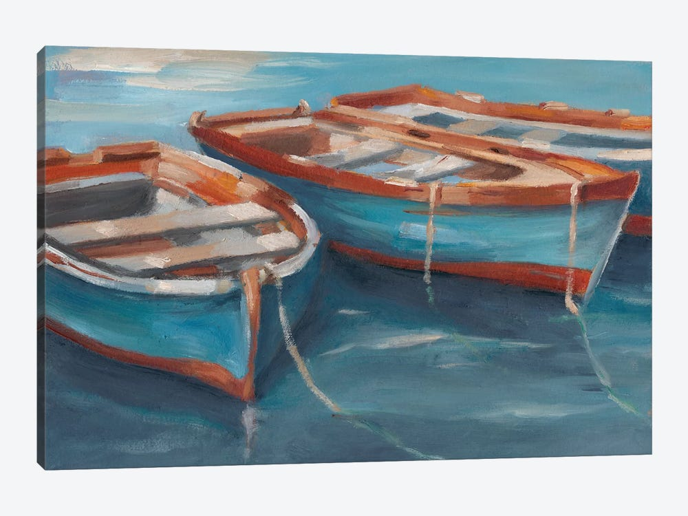 Tethered Row Boats II by Ethan Harper 1-piece Canvas Art