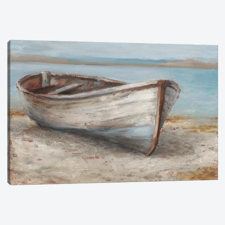 Whitewashed Boat I Canvas Print #EHA447} by Ethan Harper Art Print