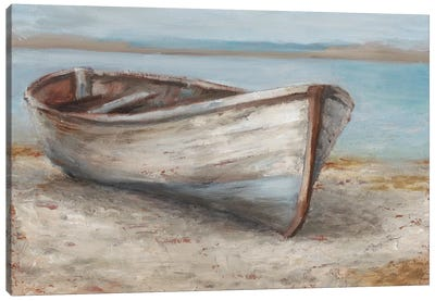 Whitewashed Boat I Canvas Art Print