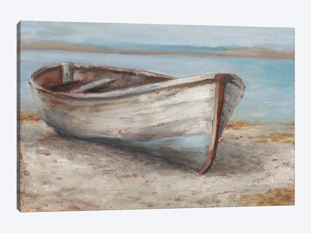 Whitewashed Boat I by Ethan Harper 1-piece Canvas Print