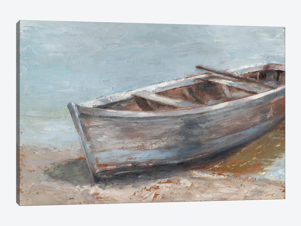 Whitewashed Boat II by Ethan Harper 1-piece Canvas Artwork