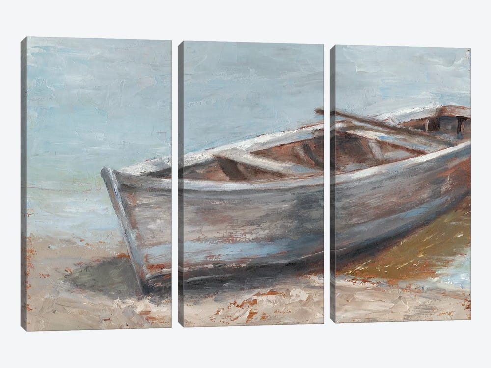 Whitewashed Boat II by Ethan Harper 3-piece Canvas Wall Art