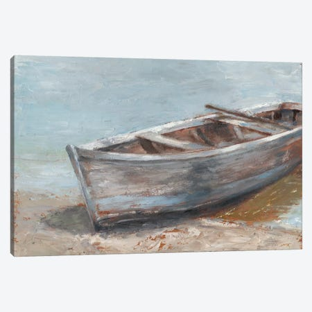 Whitewashed Boat II Canvas Print #EHA448} by Ethan Harper Canvas Wall Art