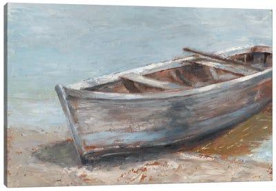 Whitewashed Boat II Canvas Art Print