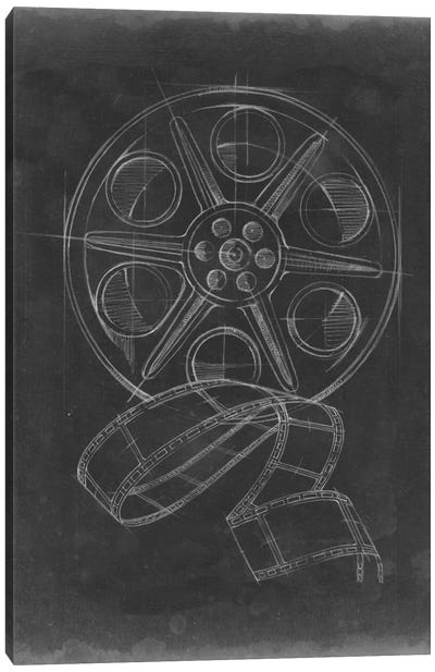 Film & Reel Blueprint I Canvas Art Print