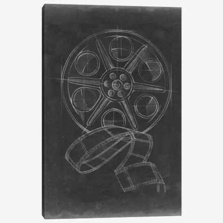 Film & Reel Blueprint I Canvas Print #EHA44} by Ethan Harper Canvas Art