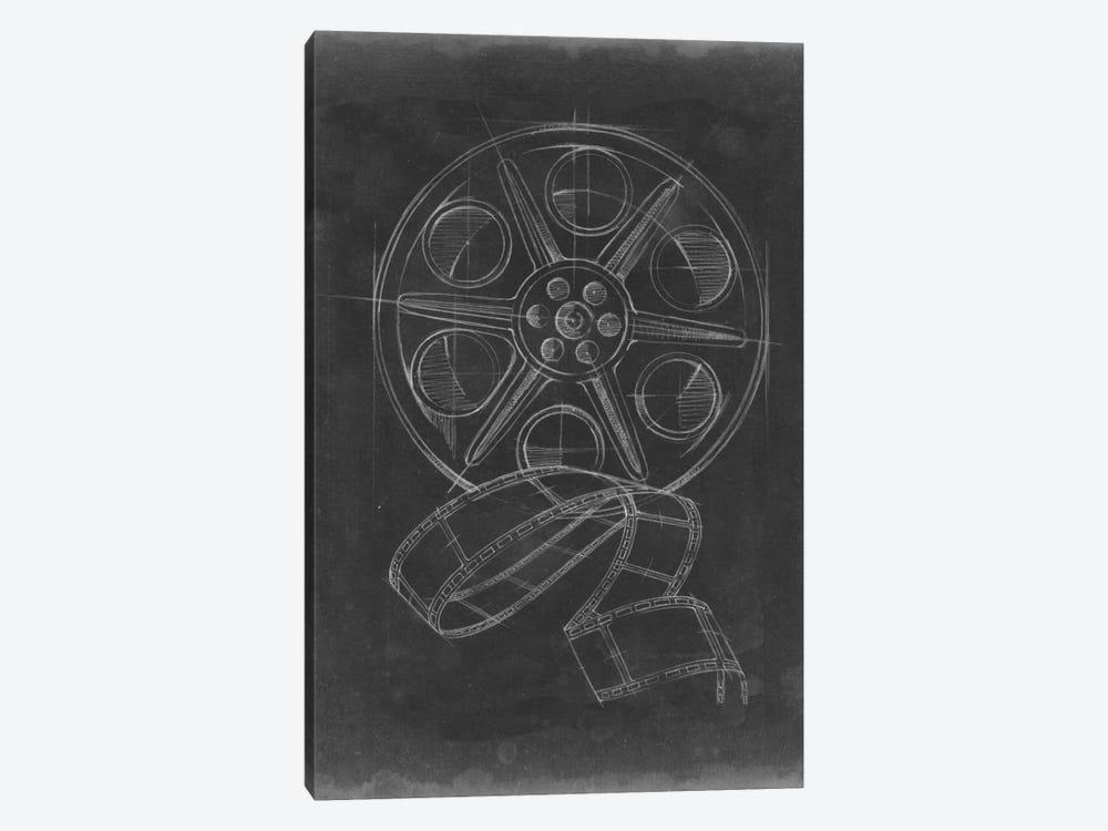 Film & Reel Blueprint I by Ethan Harper 1-piece Canvas Wall Art