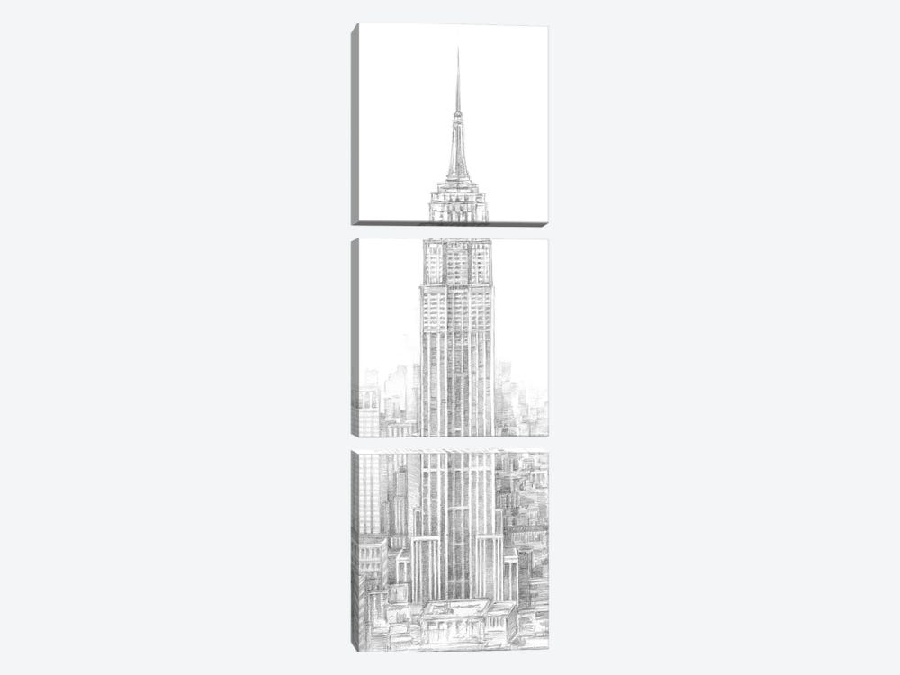 Aerial City View II by Ethan Harper 3-piece Canvas Art Print