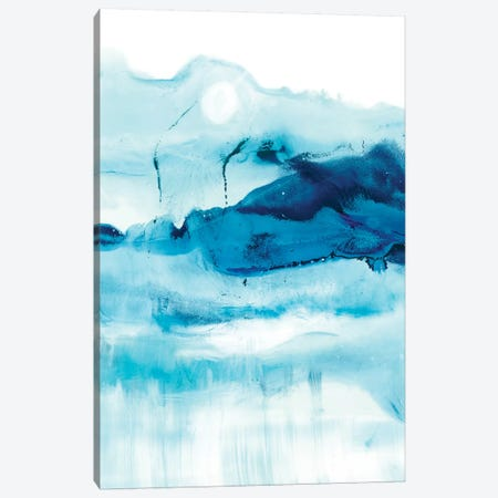 Blue Currents I 3-Piece Canvas #EHA465} by Ethan Harper Canvas Print