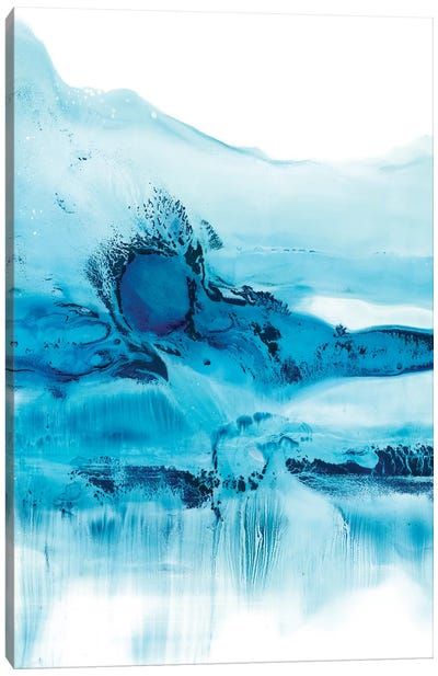 Blue Currents II Canvas Art Print
