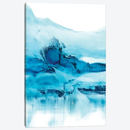 Blue Currents II 3-Piece Canvas #EHA466} by Ethan Harper Canvas Print