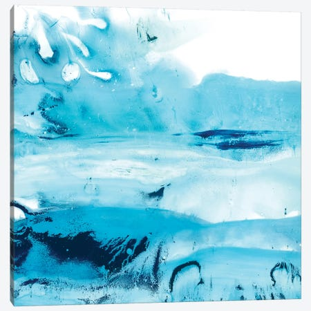 Blue Currents IV Canvas Print #EHA468} by Ethan Harper Canvas Art