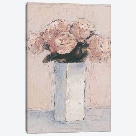 Blush Florals I Canvas Print #EHA469} by Ethan Harper Canvas Artwork