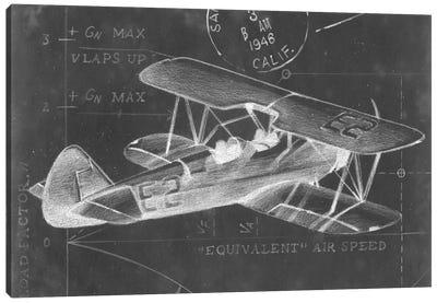 Flight Schematic I Canvas Print #EHA46