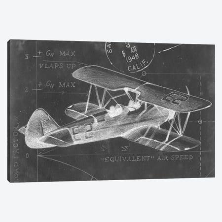 Flight Schematic I Canvas Print #EHA46} by Ethan Harper Canvas Art