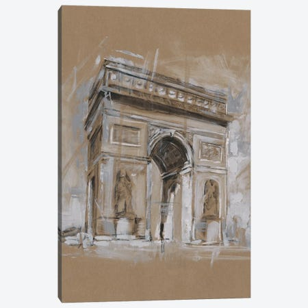 Brushwork Architecture Study I Canvas Print #EHA471} by Ethan Harper Canvas Print